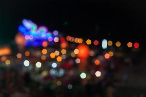 Blurred bokeh lights photo
