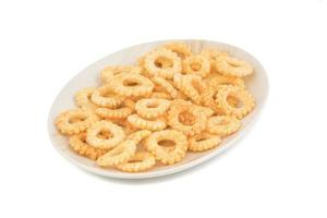 Plate of round ring snacks