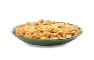 Masala peanuts in a green bowl