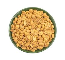Green plate with masala peanuts