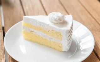 Coconut cake on plate