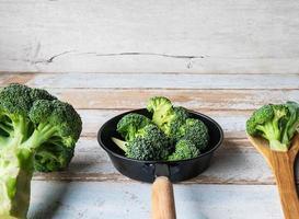 Broccoli is prepared in the kitchen