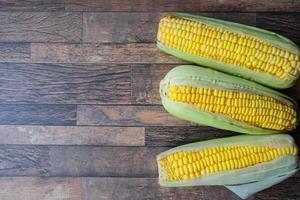 Three ears of corn photo