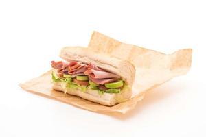 Ham salad submarine sandwich photo