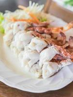 Steamed crab legs photo