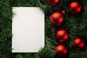 Merry Christmas paper note mockup photo