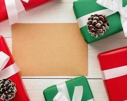 plantilla de maqueta de tarjeta de felicitación de feliz navidad