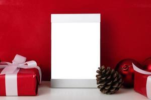 Blank silver photo frame mockup template