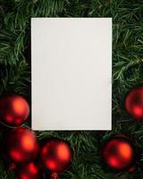 Merry Christmas paper note mockup