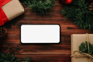 Merry Christmas smartphone mockup