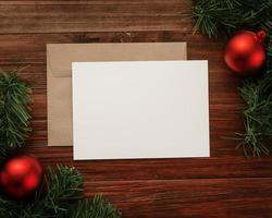 feliz navidad tarjeta de felicitación y maqueta de sobre