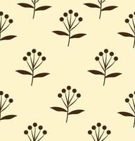 Seamless pattern of black flowers