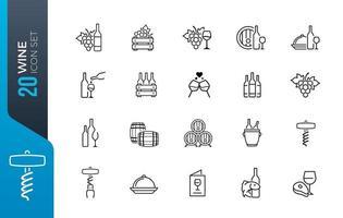 Minimal dental icon set collection