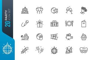 Minimal party icon set