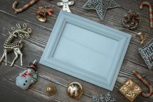 fondo de navidad decoración en blanco para texto foto