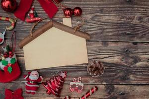 Christmas background blank decoration for text photo
