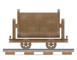 Mining trolley cart vector