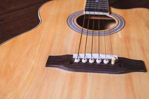 instrumento de guitarra acustica