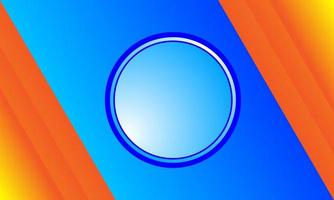 Blue circle abstract background with orange color combination vector