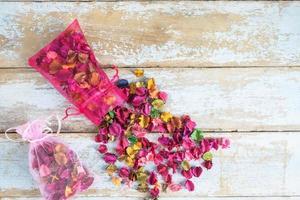 bolsa de perfume de flores