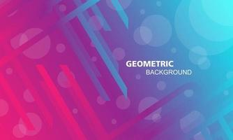 Abstract geometric background in pink blue color vector