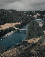 Aerial bridge and river