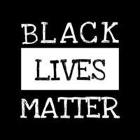 Black lives matter text vector