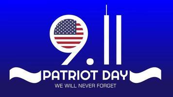 Patriot day USA vector