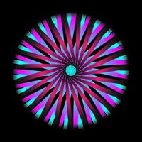 Abstract circular spiral spirograph