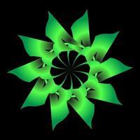 Green floral fractal ornament