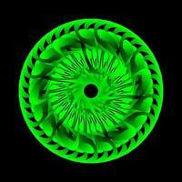 Circular green eyesight spirograph vector