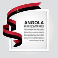 cinta de bandera de onda abstracta de angola vector