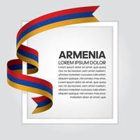 cinta de bandera de onda abstracta de armenia vector