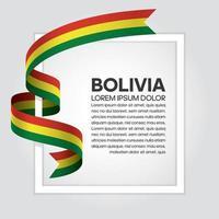 cinta de bandera de onda abstracta de bolivia vector