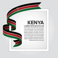 cinta de bandera de onda abstracta de kenia vector