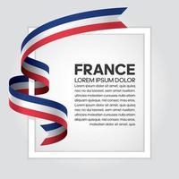 France abstract wave flag ribbon vector