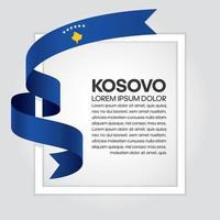 cinta de bandera de onda abstracta de kosovo vector