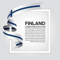 cinta de bandera de onda abstracta de finlandia vector