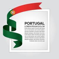 cinta de bandera de onda abstracta de portugal vector