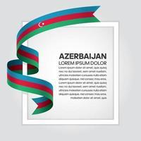 cinta de bandera de onda abstracta de azerbaiyán vector