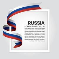 cinta de bandera de onda abstracta de rusia vector