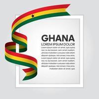 cinta de bandera de onda abstracta de ghana vector