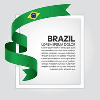 cinta de bandera de onda abstracta de brasil vector