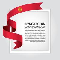 Kyrgyzstan abstract wave flag ribbon vector