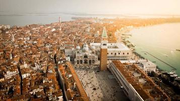 vista aérea, de, venecia, italia