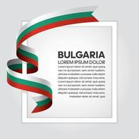 cinta de bandera de onda abstracta de bulgaria vector