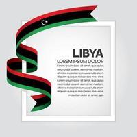 cinta de bandera de onda abstracta de libia vector
