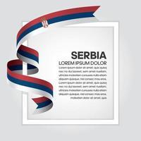 cinta de bandera de onda abstracta de serbia vector