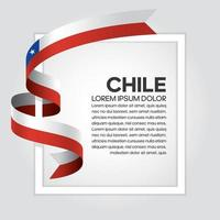 Chile  abstract wave flag ribbon vector