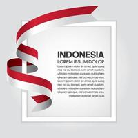 Indonesia abstract wave flag ribbon vector